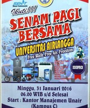 Senam Pagi Bersama Universitas Airlangga